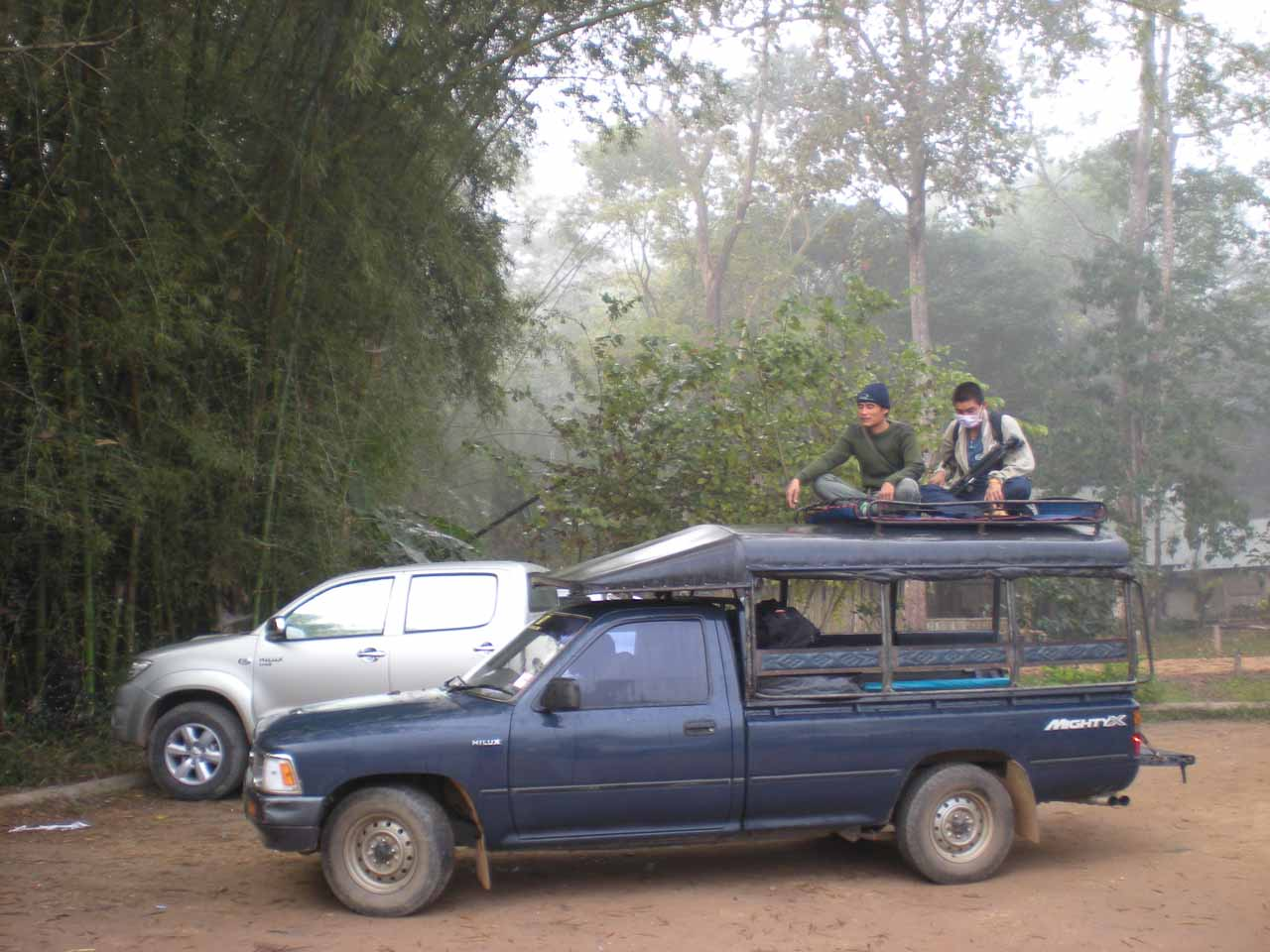 The songthaew that we had to ride in for the bumpy 4wd stretch of road leading us to the campground
