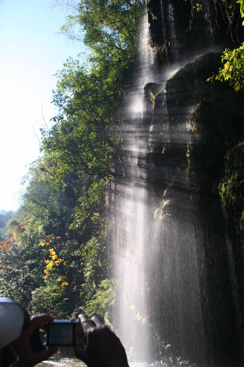 Looking back at the Thi Lor Jor Waterfall with the benefit of sidelighting from the sun