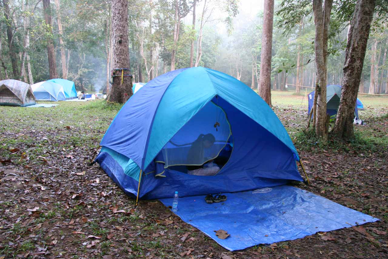 Our camp at the Thi Lo Su Campground