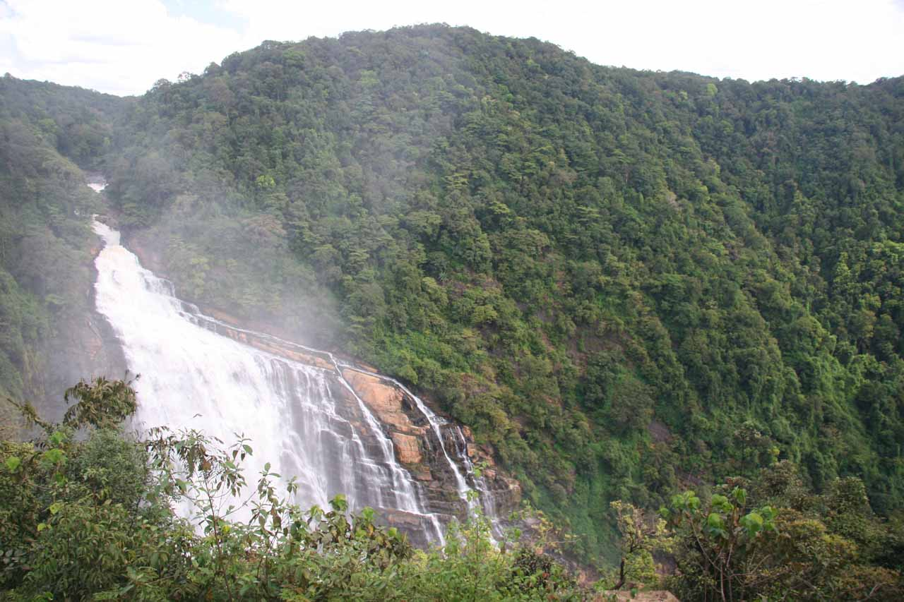 First look at Unchalli Falls from the uppermost overlooks