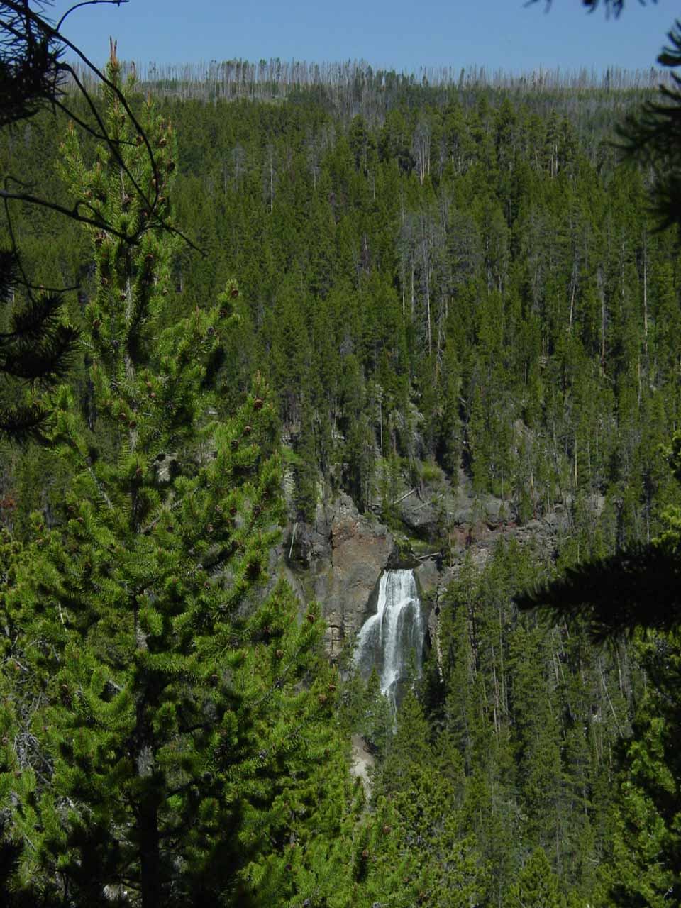 View of Crystal Falls from near Uncle Tom's Trailhead
