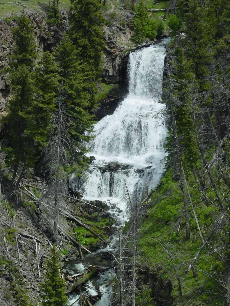 The multi-tiered Undine Falls
