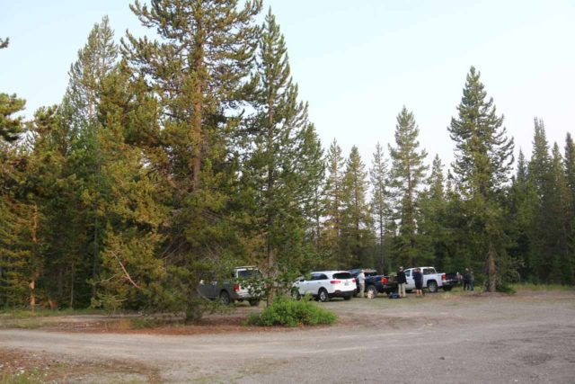 Union_Falls_003_08122017 - The trailhead parking for the Union Falls hike beneath the Grassy Lake Reservoir