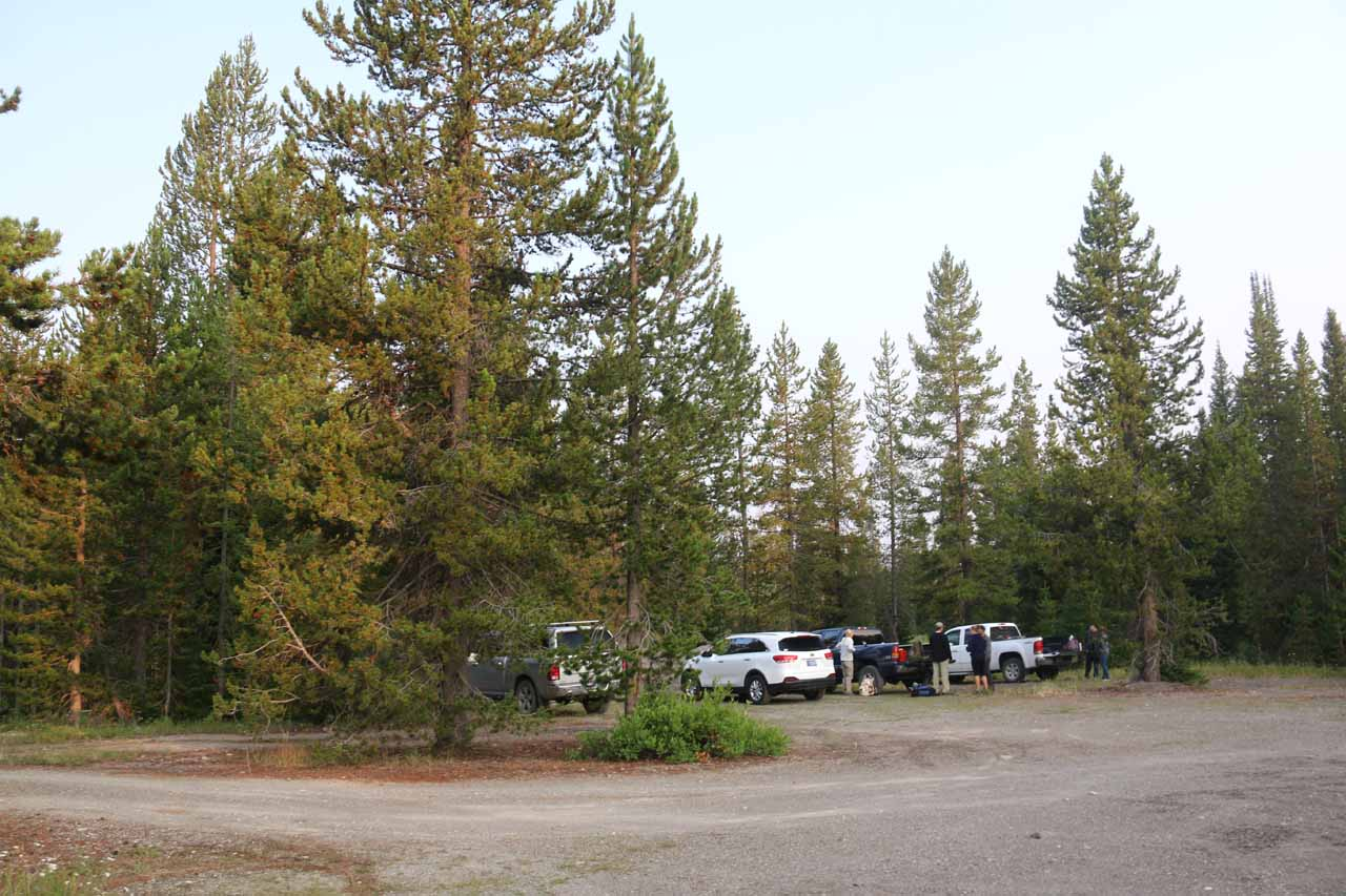 At the fairly spacious parking area at the Grassy Lake Trailhead