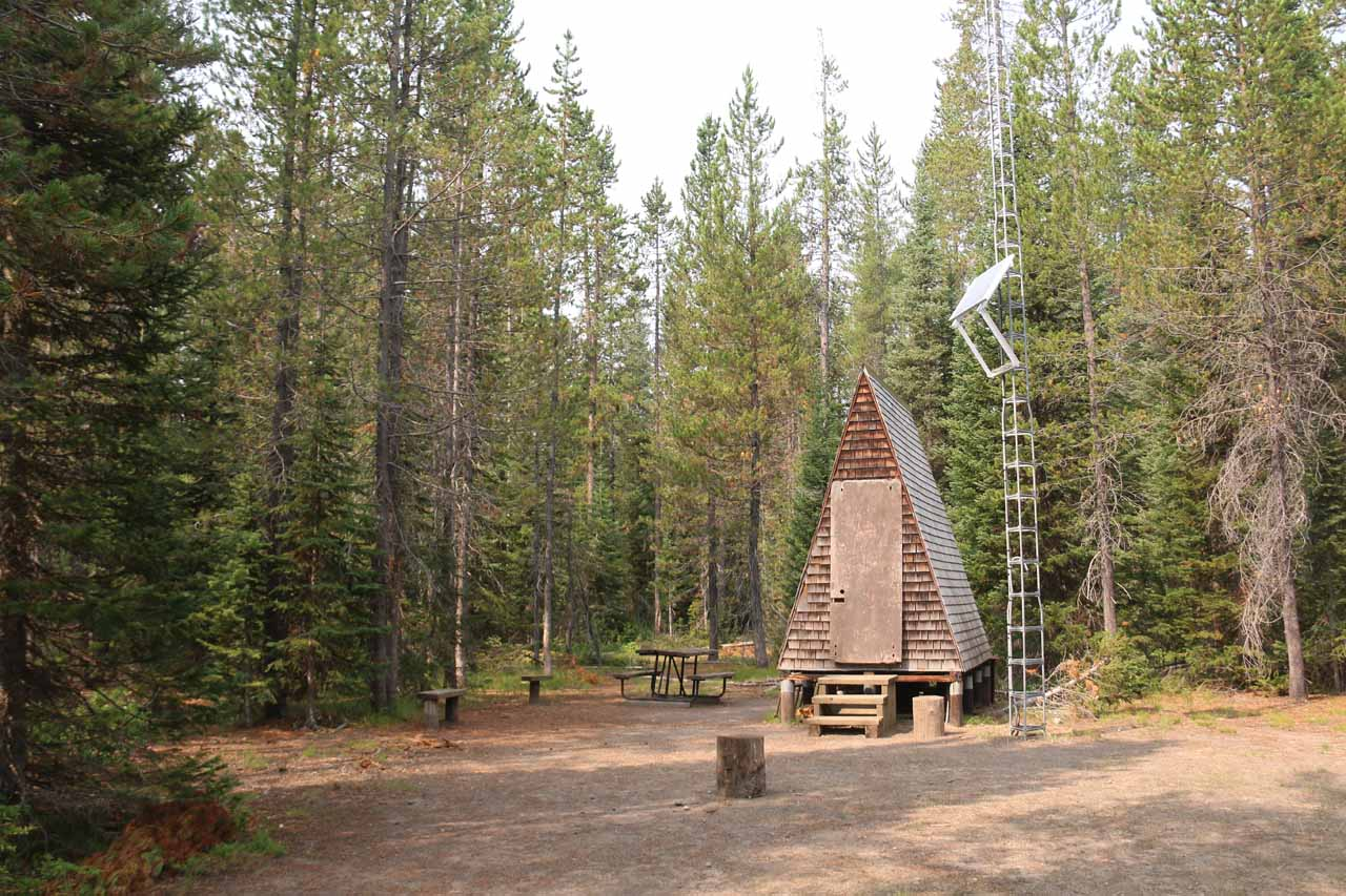 This was the Union Falls Ranger Station