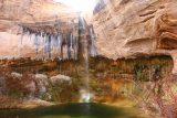 Upper_Calf_Creek_Falls_18_123_04022018 - The Upper Calf Creek Falls with colorful walls backing its base