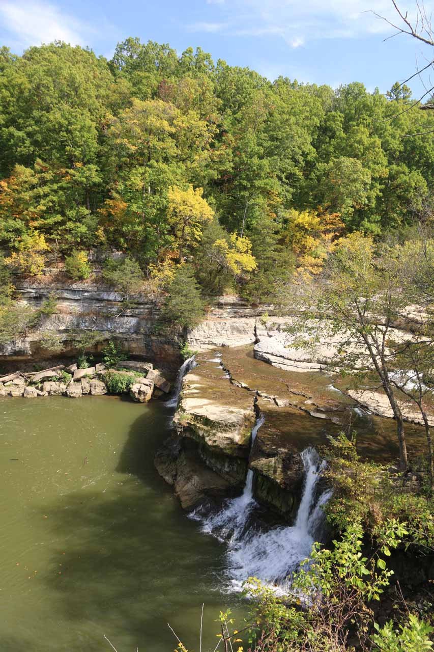 Our first look at the main drop of the Upper Cataract Falls