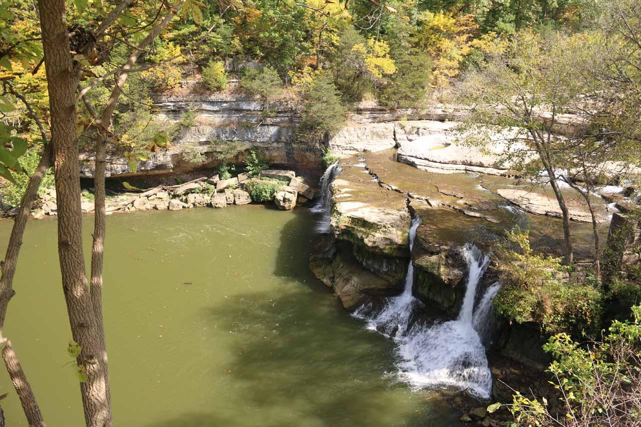 The main drop of the Upper Cataract Falls
