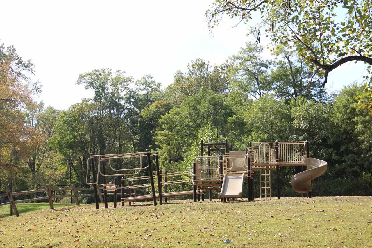 The playground by the car park and picnic area for the Upper Cataract Falls