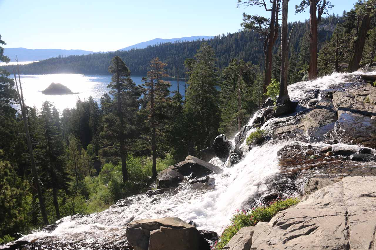 Prior to starting our hike for the Upper Eagle Falls, I checked out the Lower Eagle Falls overlooking Emerald Bay. In hindsight, this was probably best seen at sunrise or later in the afternoon