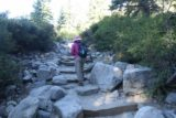 Upper_Eagle_Falls_017_06232016 - Mom going right up the rock steps near the trailhead