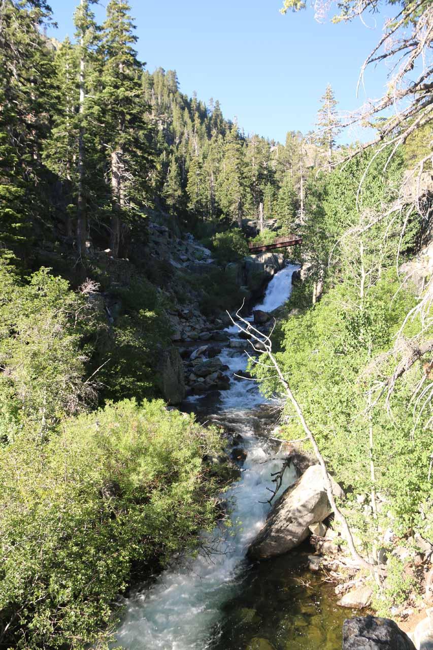 Looking upstream along Eagle Creek towards the Upper Eagle Falls
