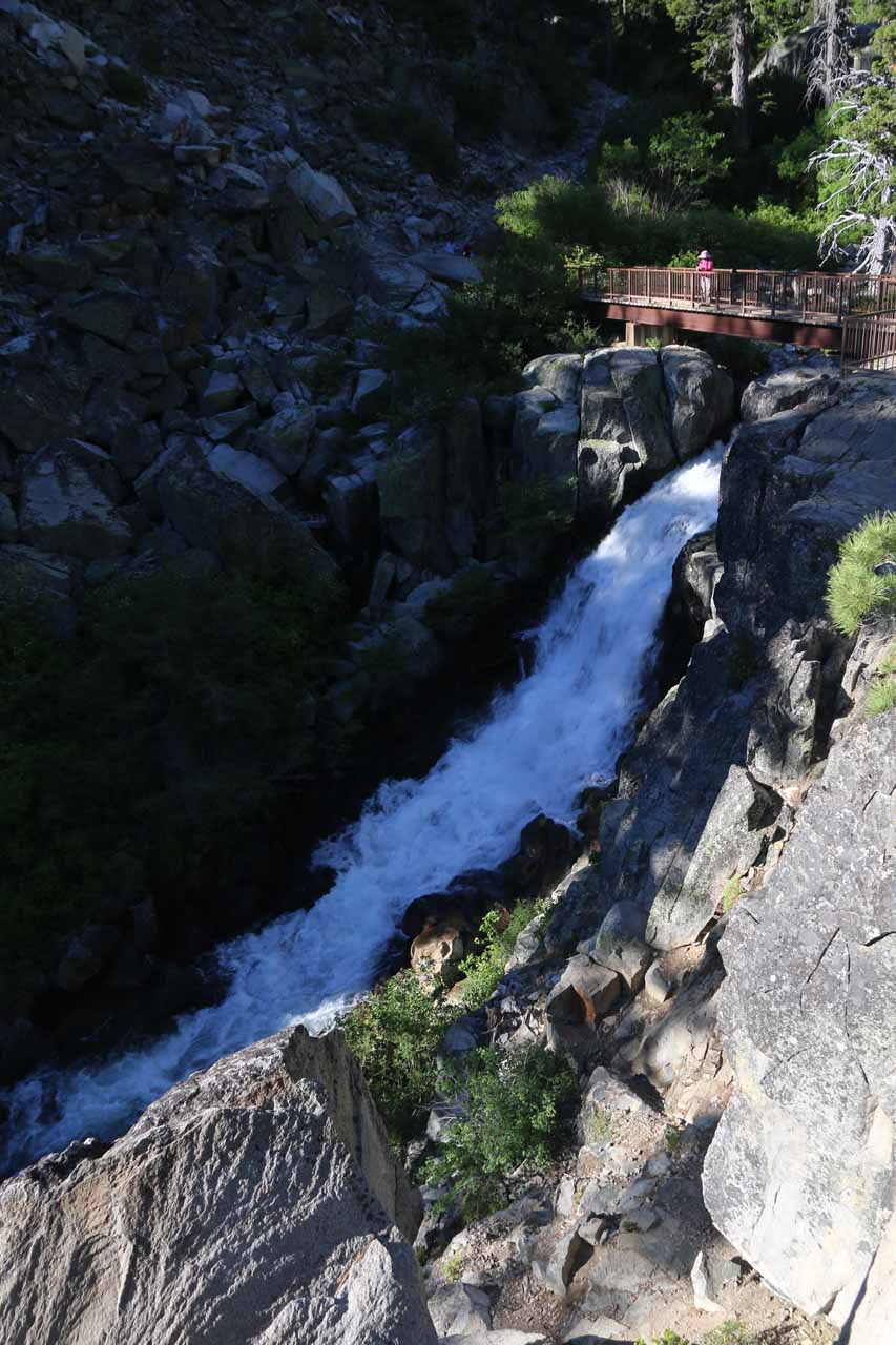 Another look at the Upper Eagle Falls as we got closer to the footbridge