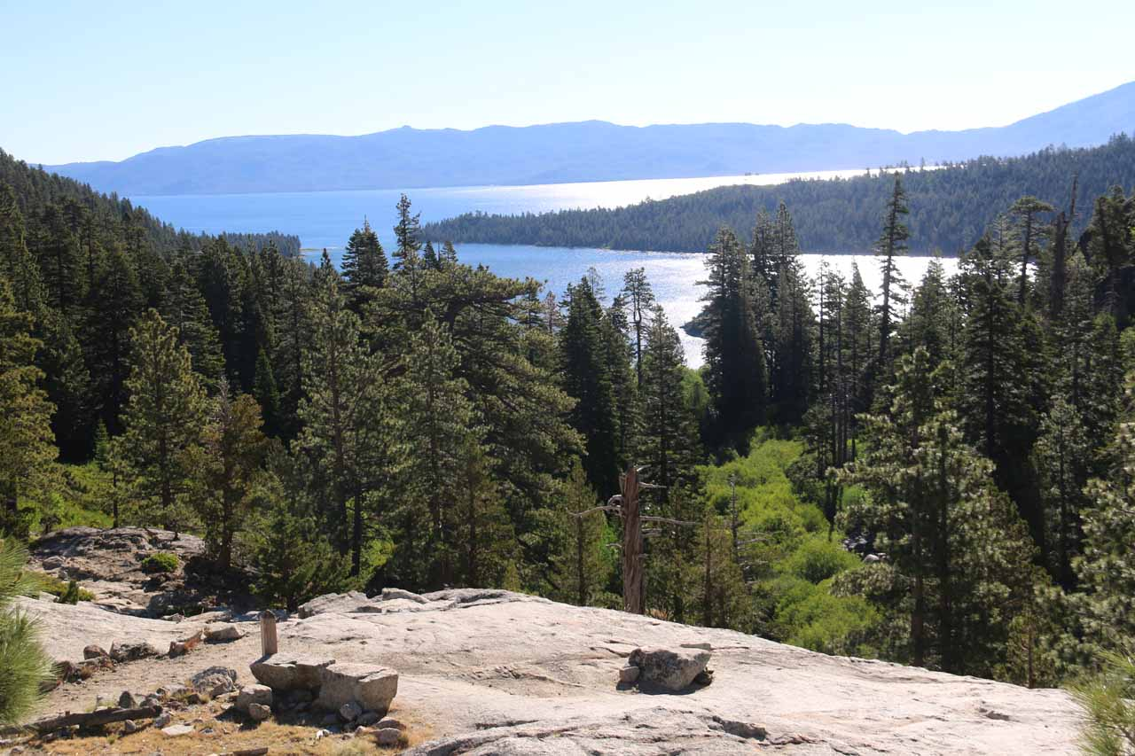 This was the view of Emerald Bay from the Vista Point along the Eagle Loop, which was definitely a bit more peaceful that most of the other vista points closer to Hwy 89