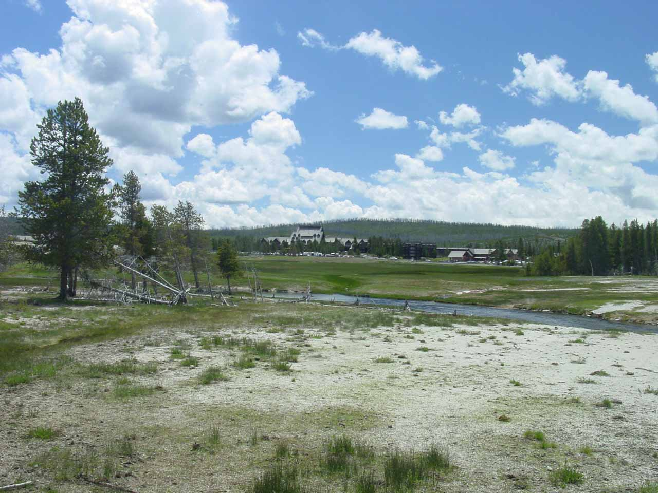 Wide open view of the Upper Geyser Basin