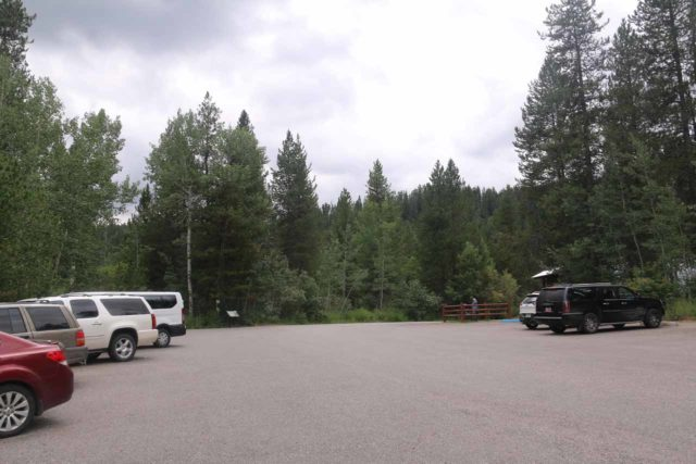 Upper_Mesa_Falls_17_001_08142017 - The parking lot for the Upper Mesa Falls