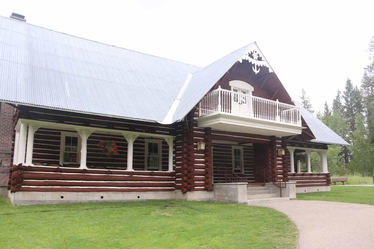 Approaching the historic Big Falls Inn