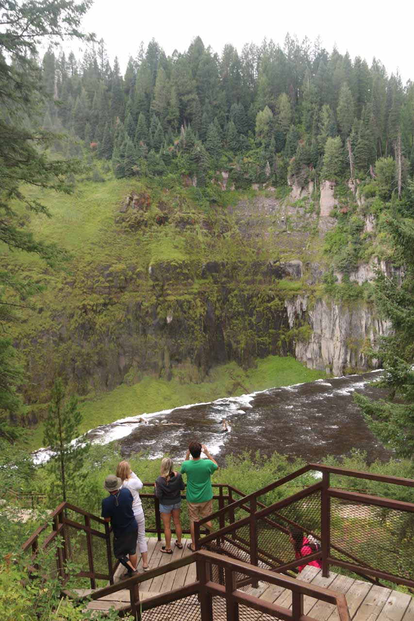 Looking over the top of Upper Mesa Falls as we were taking these steps back up