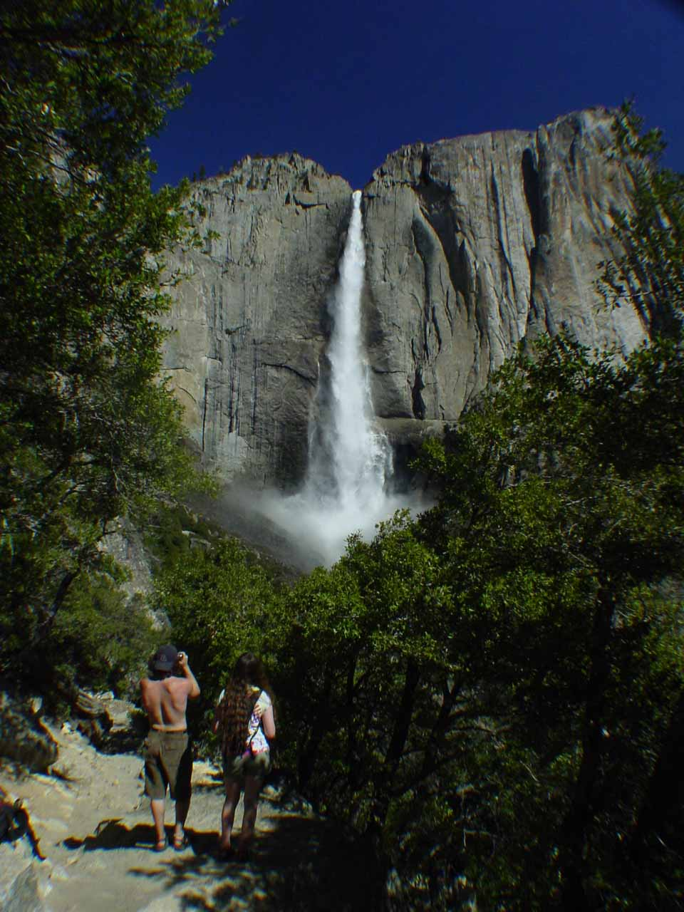 View of Upper Yosemite Falls from the trail