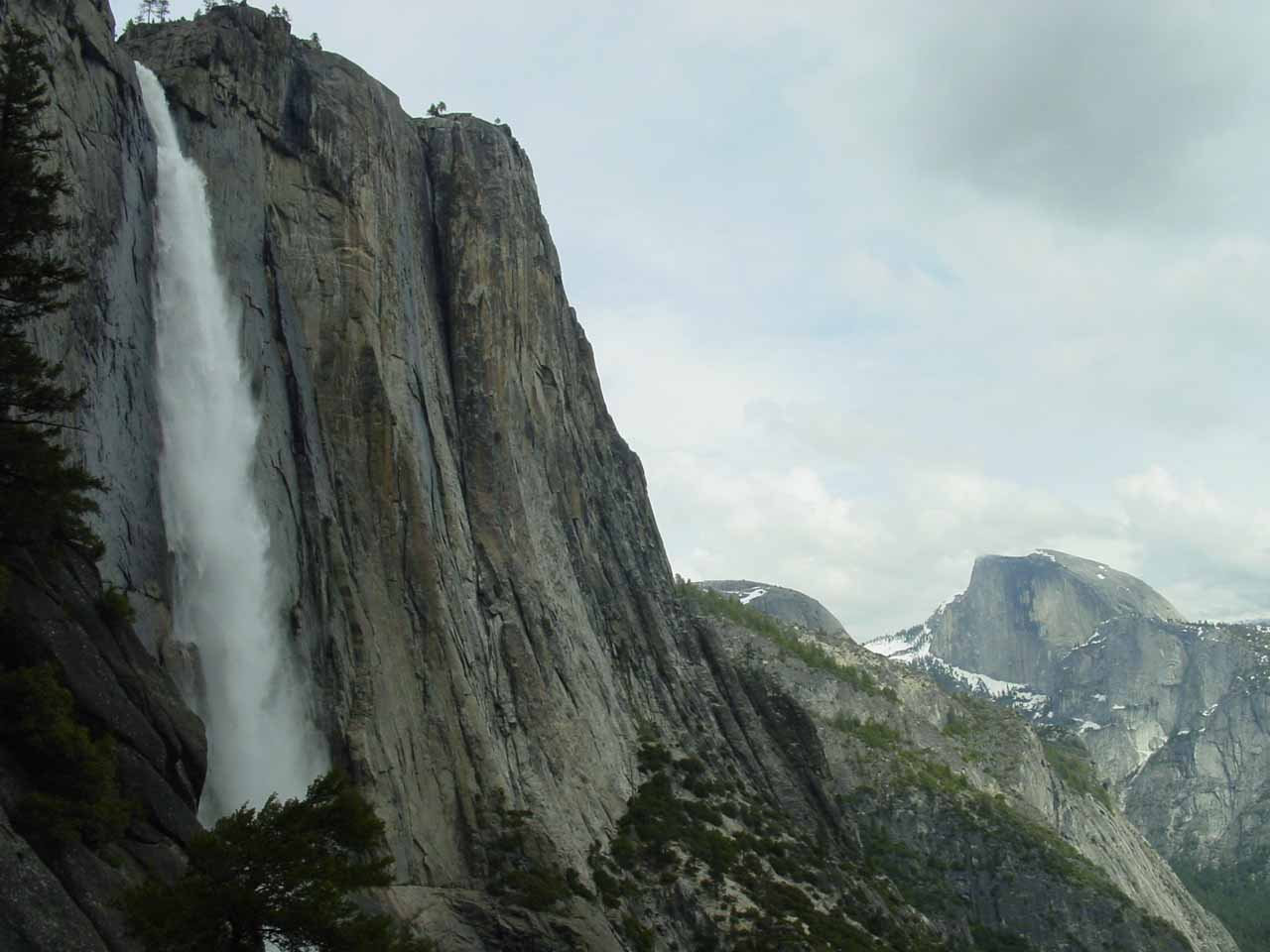 Upper Yosemite Falls and Half Dome