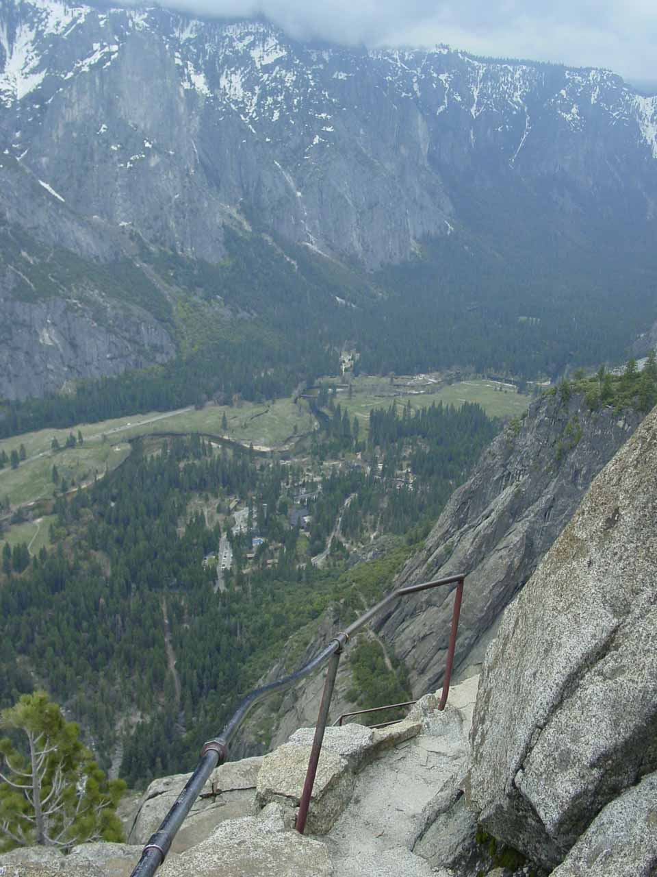Some cliff exposure near the top of Yosemite Falls