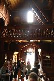 Urnes_stavkirke_037_07202019 - Looking back at the people on the guided tour with us inside the Urnes Stave Church