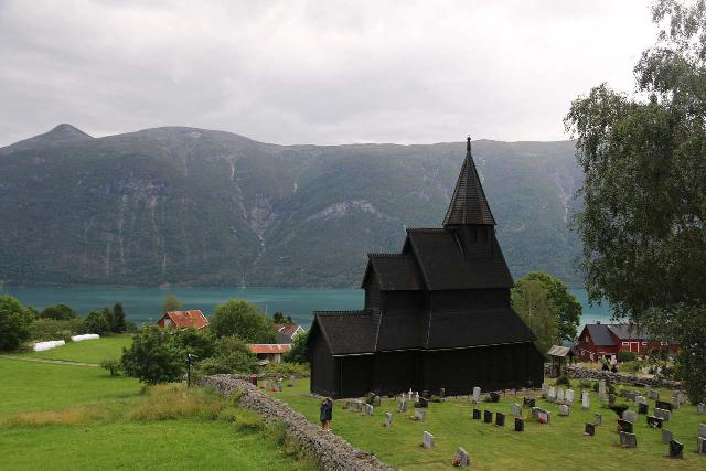 Urnes_stavkirke_062_07202019 - Beyond the Stryn area, we ultimately made our way to the Lusterfjord, where we visited the 12th century Urnes Stave Church. It was definitely one of the most well-situated churches that we've encountered in Norway