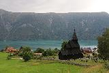 Urnes_stavkirke_090_07202019 - Another look towards the context of Urnes Stave Church perched above Lustrafjorden