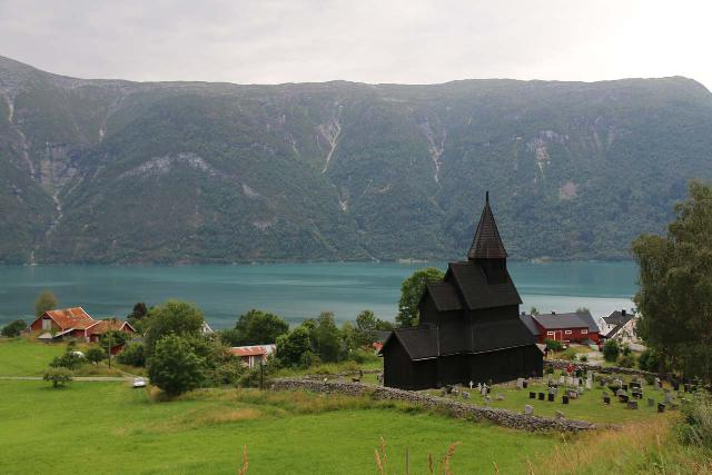 Urnes_stavkirke_090_07202019 - Beyond the Stryn area, we ultimately made our way to the Lusterfjord, where we visited the 12th century Urnes Stave Church. It was definitely one of the most well-situated churches that we've encountered in Norway
