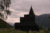 Urnes_stavkirke_123_07202019 - Dark and moody look at the Urnes Stave Church under some ominous skies