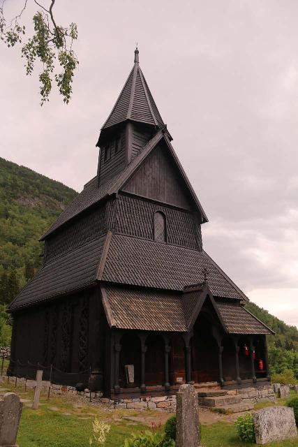 Urnes_stavkirke_142_07202019 - When we made our way to the Lusterfjord after visiting Eidsfossen, we visited the 12th century Urnes Stave Church. We managed to catch a tour of it, where we got to check out its rather elaborate interior
