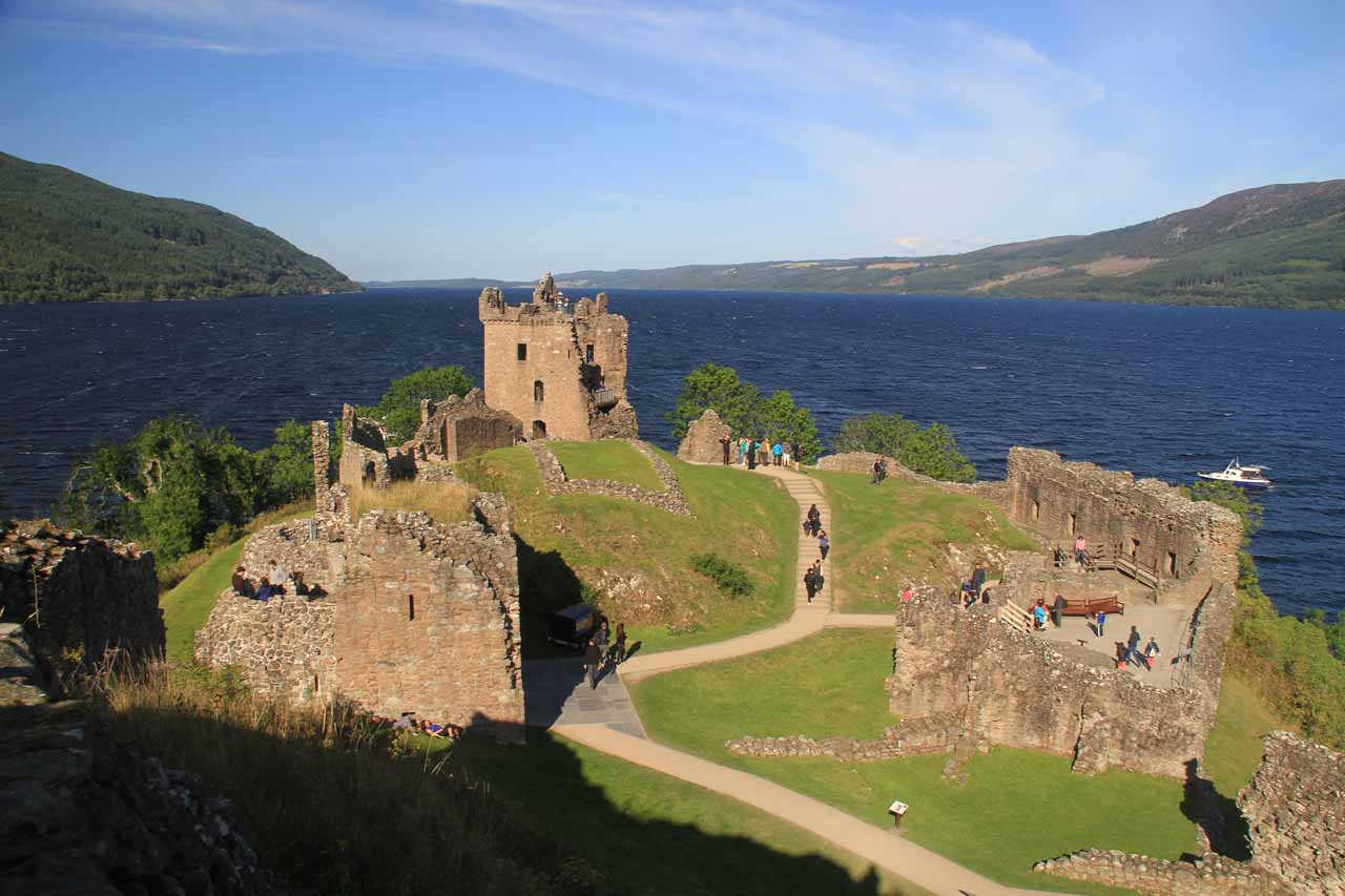 While driving the A82 back towards Inverness from Skye, we managed to fit in a visit to Urquhart Castle, which overlooks Loch Ness and could very well be the most worthwhile Loch Ness excursion