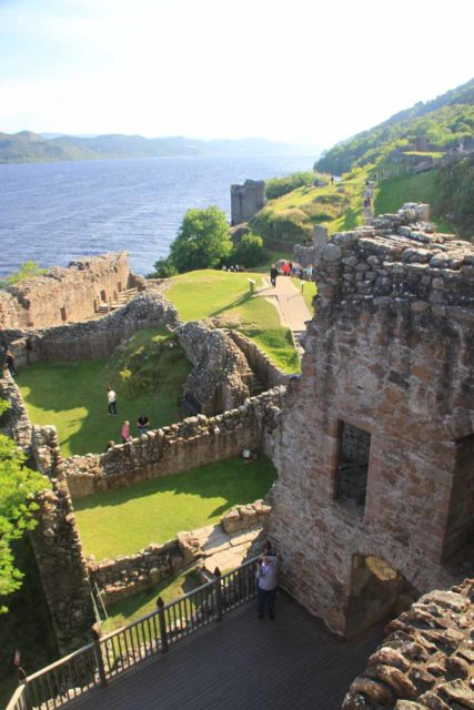 Urquhart_Castle_144_08262014 - Less than 2 miles beyond Drumnadrochit along the A82 on the other side of Loch Ness was the attractive ruins of Urquhart Castle overlooking Loch Ness itself