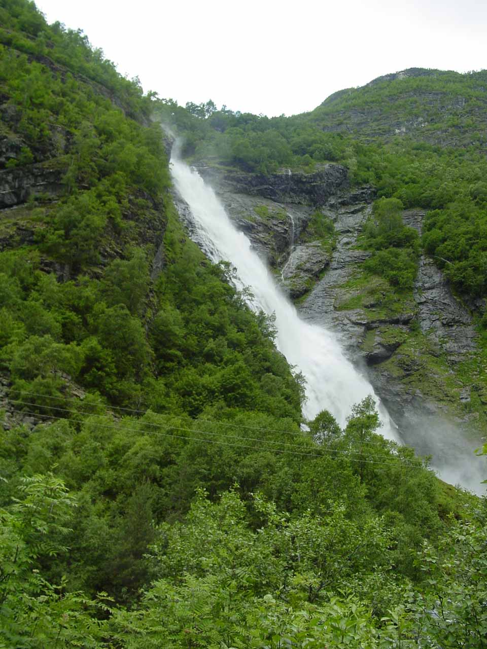 Finally, Avdalsfossen started coming into view about 15 minutes into the hike