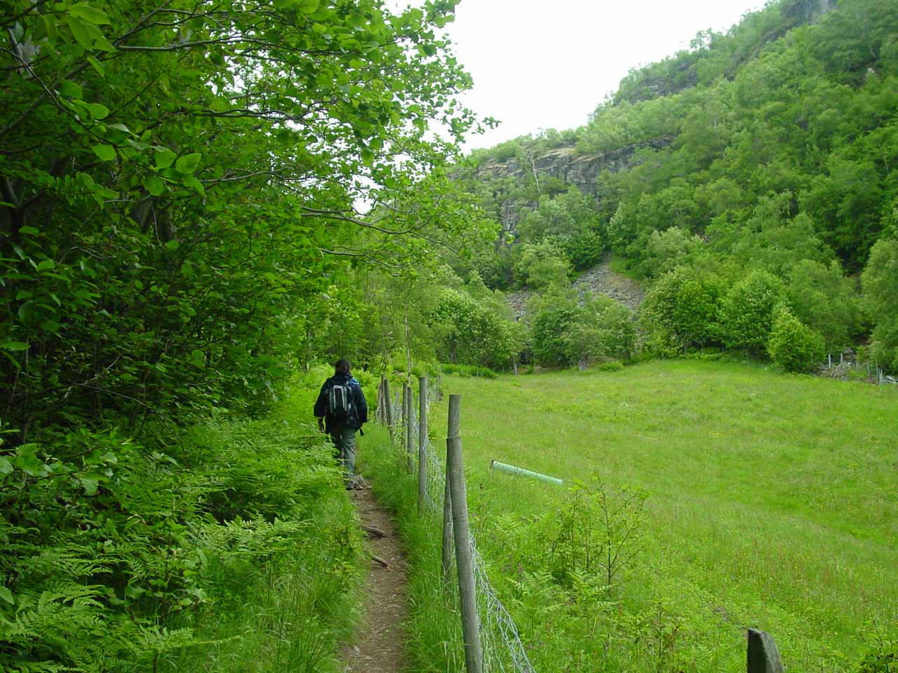 The trail continuing beyond Vetti