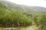 Utladalen_075_07212019 - Approaching the line of waterfalls as I was getting closer to the hamlet and farms of Vetti