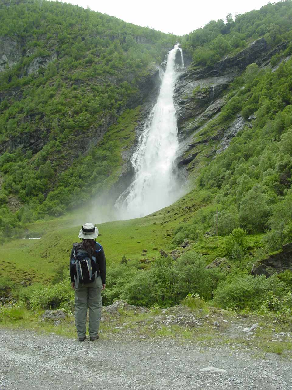 Julie making one last look at Avdalsfossen before we concluded the hike