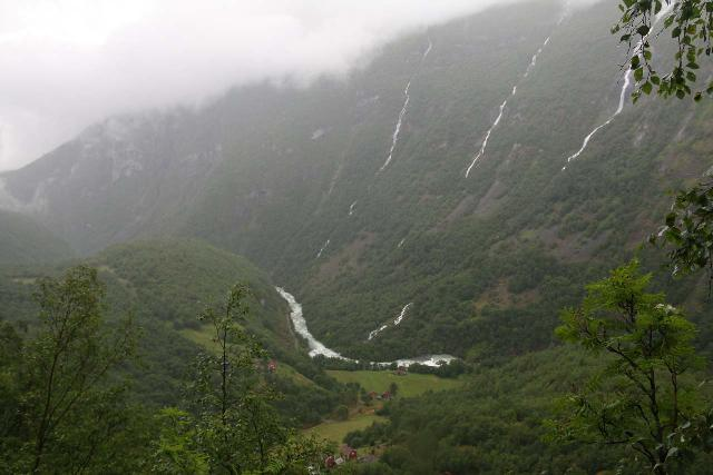 Utladalen_220_07212019 - Regardless of whether you hike to the bottom or the top of Vettisfossen, you'll see this line of waterfalls as you get close to the Vetti Farm