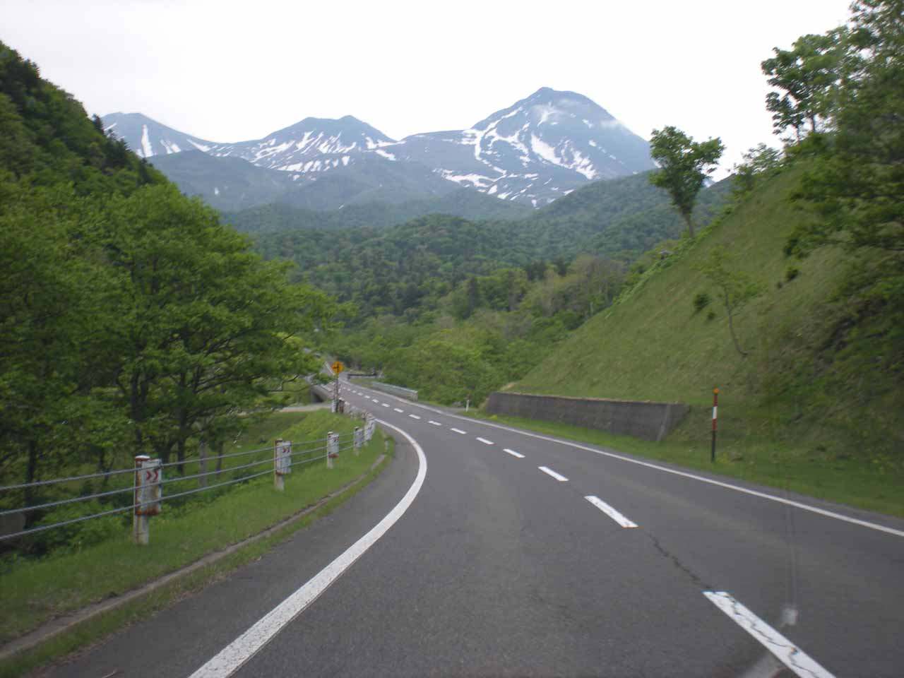The road to Shiretoko National Park was what we had to take to get to the Shiretoko Goko (5 Lakes), but the turnoff for the Kamuiwakka Waterfall was on the way