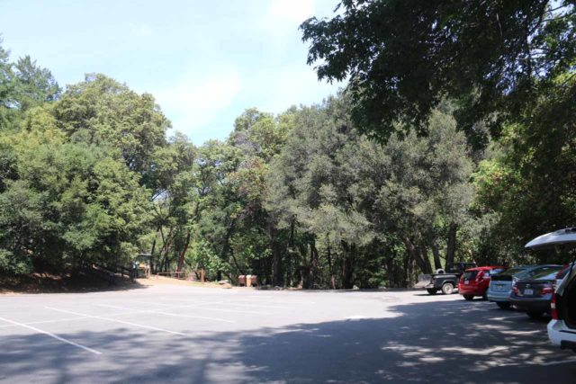 Uvas_Canyon_001_05192016 - The spacious parking lot for the Uvas Canyon County Park facing the Waterfalls Loop Trail direction