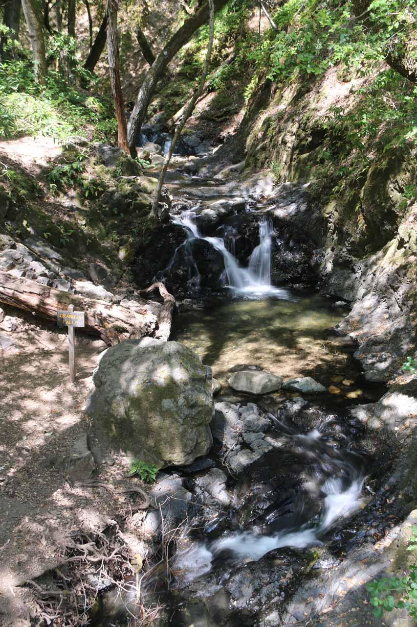 Granuja Falls as seen from its neighboring footbridge