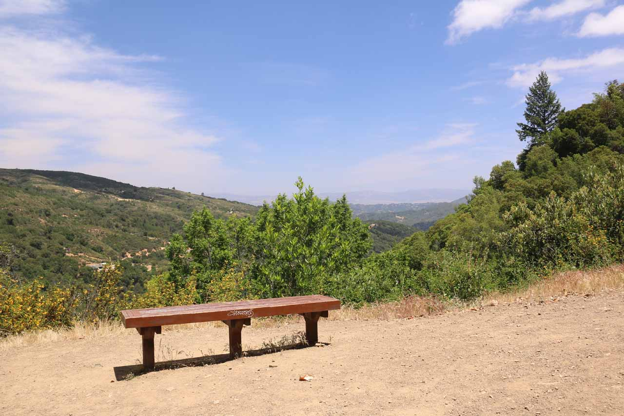 When the Alec Canyon Trail finally relented on its initial ascent, we reached this overlook where we managed to get partial views of both Uvas Canyon and the region to the east