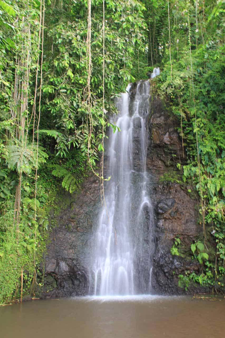 Vaipahi Falls as seen from directly across the plunge pool