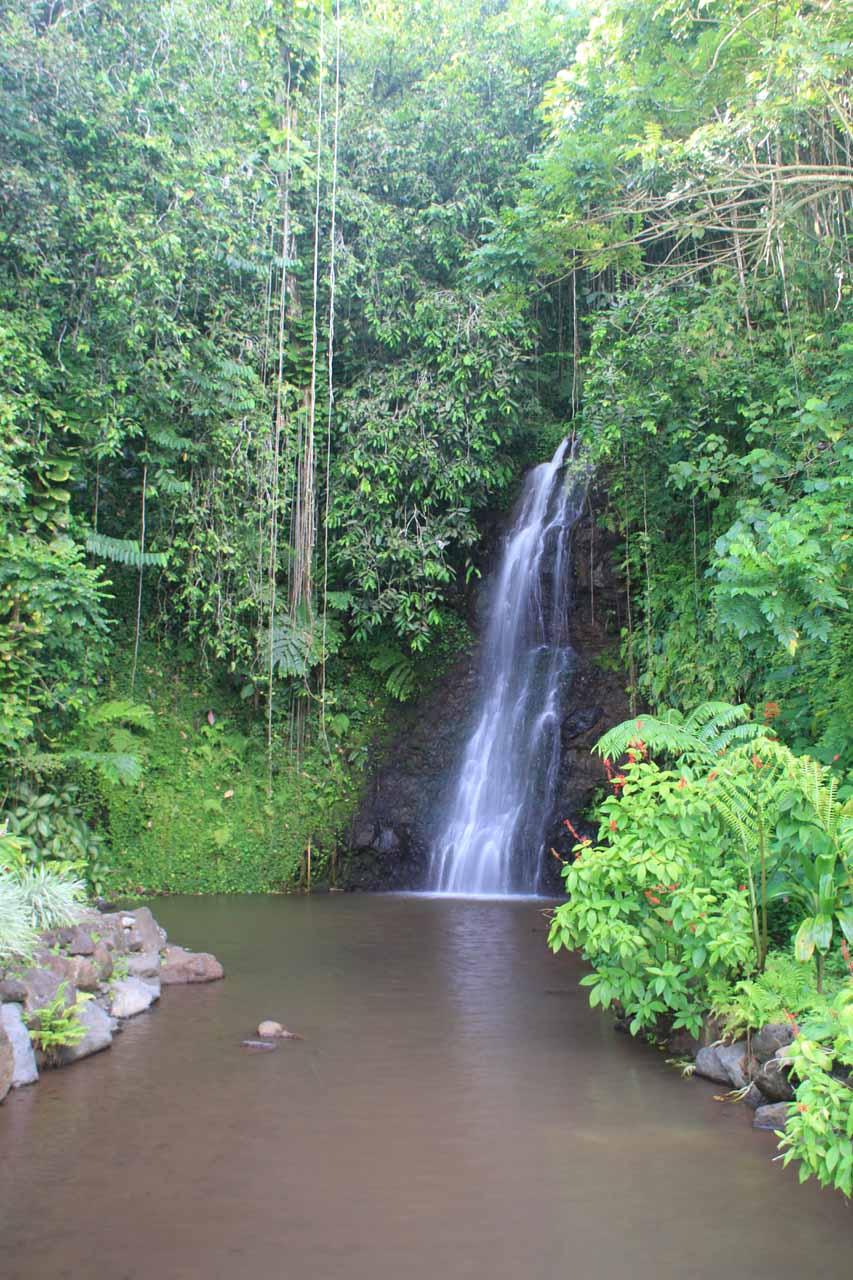 Vaipahi Falls Papeari District Near Taravao Tahiti French Polynesia