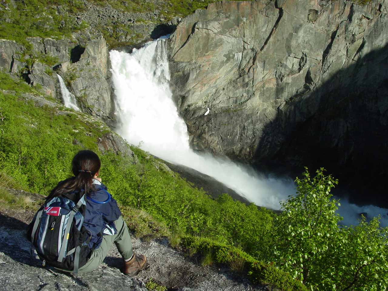 Sometimes we had to go on an excursion where its success wasn't a sure thing like this hike to Valursfossen in Norway, where we took advantage of the long days to get here at 9pm!