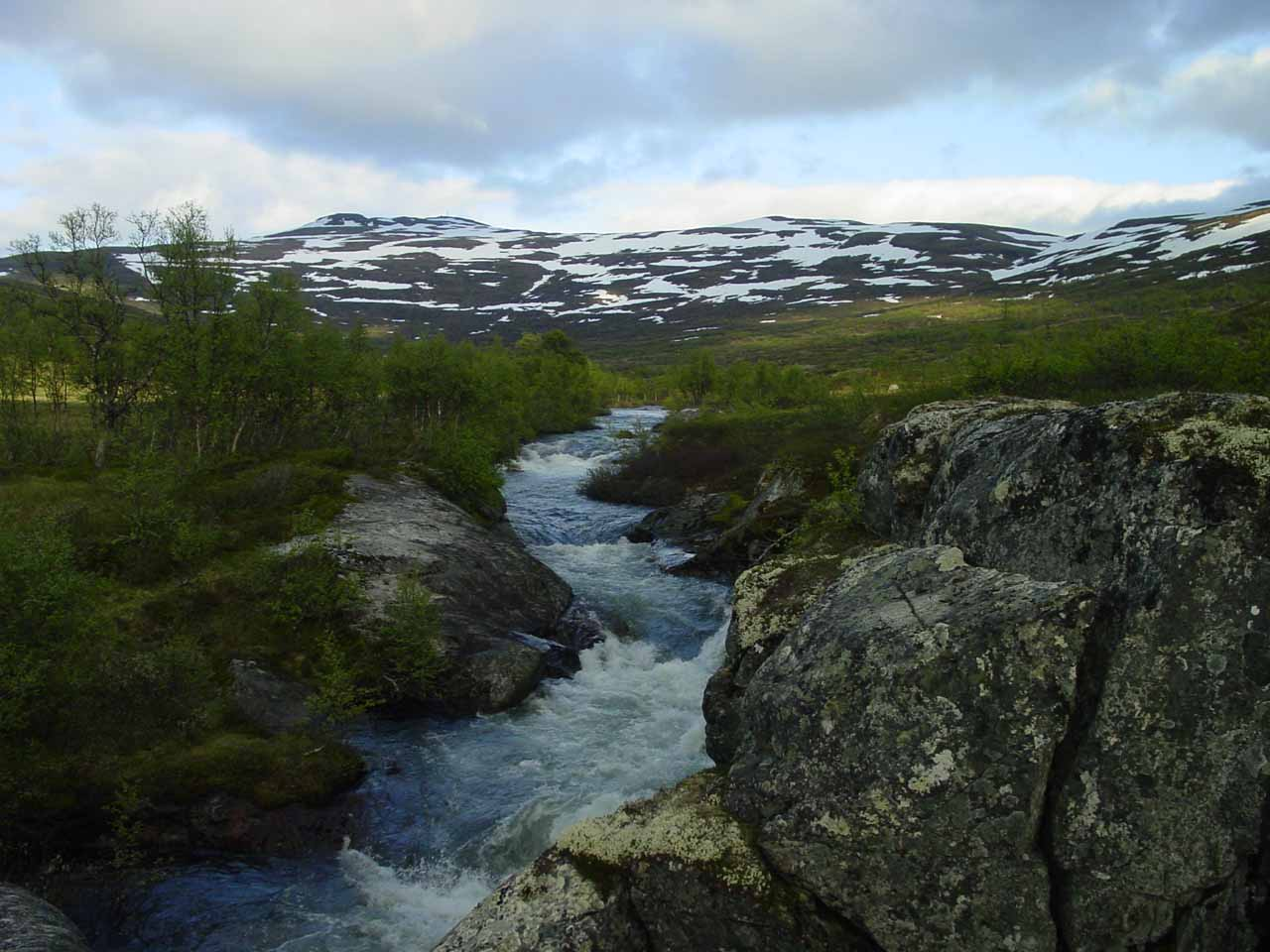 Looking further up some creek towards the moorish highlands of the Hardanger Plateau