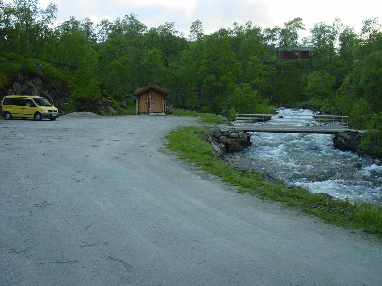 This was the car park we were supposed to have taken to start the Valursfossen hike