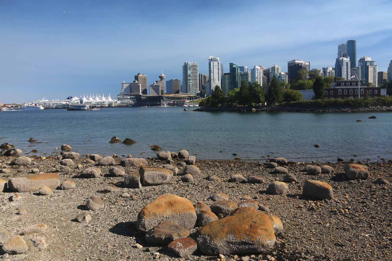 Perhaps the top attraction in Vancouver was Stanley Park towards its north end, which featured the Sea Wall with its views back towards the Vancouver skyline among other attractions