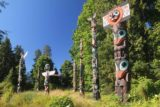 Vancouver_117_07312017 - A different look the totem poles in Stanley Park contrasted by deep blue skies