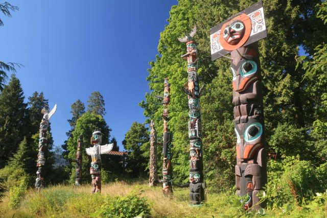 Vancouver_117_07312017 - On the drive up to the Sea to Sky Highway from Vancouver, we had to pass through Stanley Park, which featured quite a few things to see like these popular First Nations Totem Poles